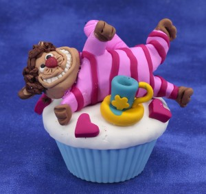 Cheshire cat clay cupcake